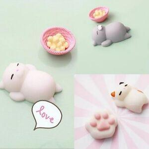 Soft And Squishy Cat Vine : Cartoon Lazy Sleep Cat Soft Squishy phone Charm Cute Bread Cell phone Straps eBay