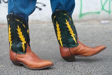 Cowboy Boots Stiefel Westernstiefel TRUE VINTAGE handmade Leather mit Ledersohle