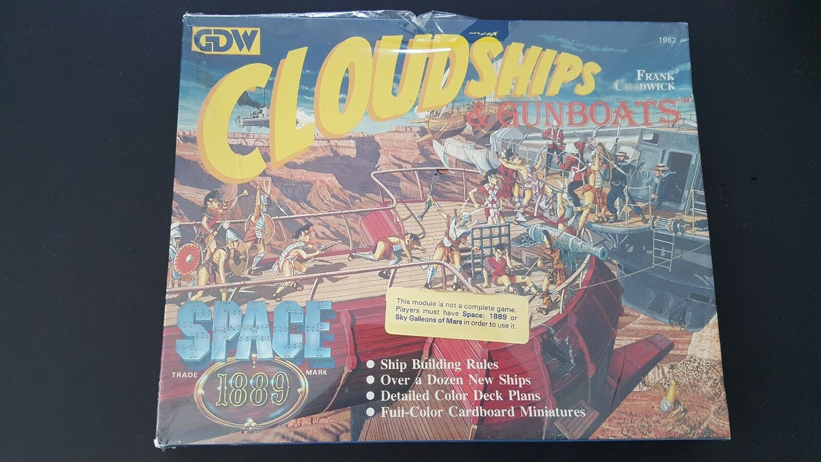 GDW SPACE 1889 CLOUDSHIPS & GUNBOATS SKY GALLEONS OF MARS MINT FACTORY SEALED