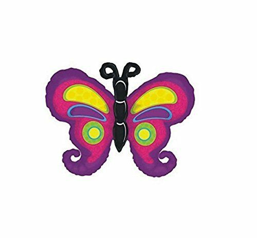 "35 /""en forme de papillon multicolore foil balloon cs88"