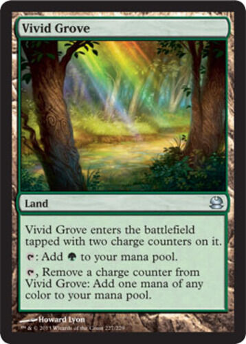 English -BFG- MTG Magic Vivid Grove x4 4x Modern Masters Near Mint
