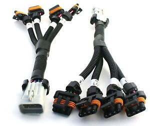 set of two ls ls1 ls6 ignition coil harness for relocation. Black Bedroom Furniture Sets. Home Design Ideas