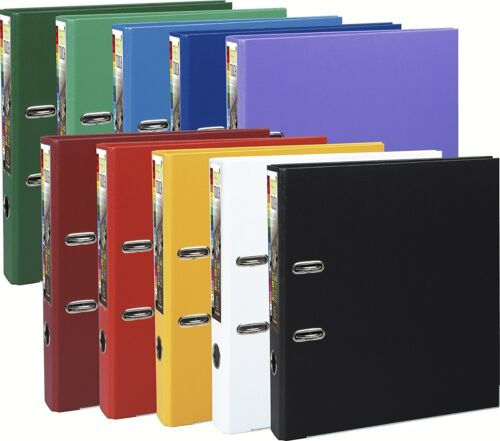 A4 Lever arch files Slim 50mm PP inside and outside covering REF:53154ESingle