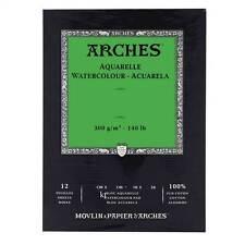 Aquarelle arcate Acquerello carta Pad PRESSATO A FREDDO COTONE Paper 12 FOGLI 26x36