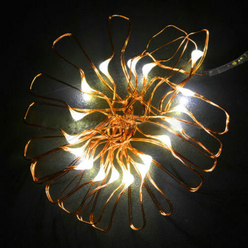 20//30//50//100 LED String Fairy Lights Copper Wire Battery Powered Waterproof DIY