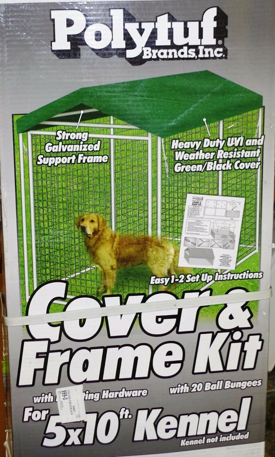 KENNEL ROOF KIT 10 FT  X  5 FT   BUY 4 GET ONE FREE!!!
