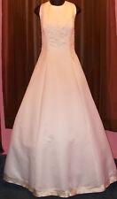 Aurora D'Paradiso White Wedding Dress + Petticoat + Veil + Carry Bag Size 16