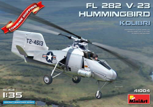 Miniart 41004 Helicopter Flettner FL 282 V-23 Hummingbird Kolibri 1//35