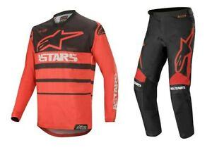 Alpinestars Racer Supermatic Arancione//Benzina 2020 Motocross MX Kit Pantaloni//JERSEY