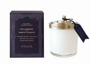 NEW-Mor-Scented-Library-Strawberry-amp-White-Jasmine-Soy-380g-Candle-Free-Shipping
