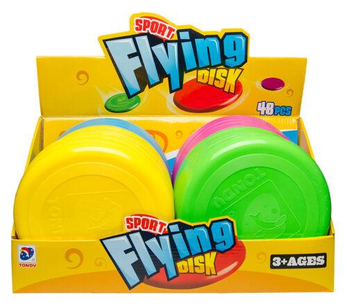 Großhandel & Sonderposten Frisbee Flying Disc 20cm 5 Neon Farben Fliegende Scheibe Wurfscheibe Tombola
