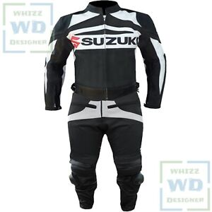 Parts & Accessories Suzuki Gsx Black Motorbike Motorcycle Cowhide Leather Armoured Pant/trouser
