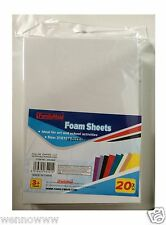 White Color 20 Pcs Craft Foam Sheets For Craft ART 6 X 8 1/2 inch