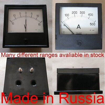 0-750A DC ±1.5/% Russian M42300 ammeter current meter amp analog panel meter.