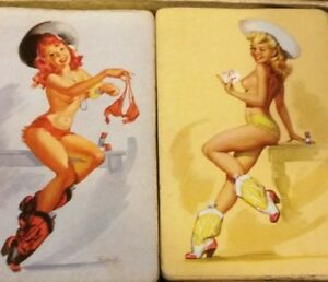 RARE-QUICK-ON-THE-DRAW-HIRES-BOTTLING-CO-PLAYING-CARDS-NUDE-LADIES-RISQUE-LADY