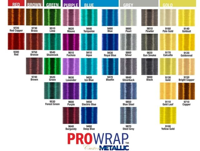 PRO WRAP COLOR FAST YELLOW COLORS SIZE A 100 YD SPOOLS CFS-A