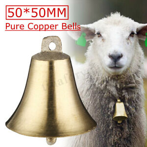 2PCS-Brass-Copper-Bells-Cow-Horse-Sheep-Dog-Animal-Grazing-Super-Cattle