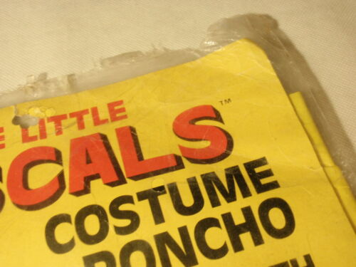 Details about  /Vintage Little Rascals Costume Poncho with Topper Mask 1987