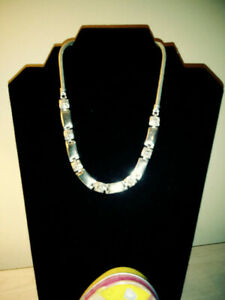 Brighton-Silver-Tone-Links-Necklace-15-034-with-3-034-extender-amp-original-heart-box