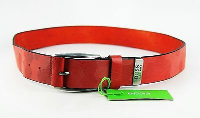 Tireless Hugo Boss Green Label Tamorty Textured Leather Belt Size 34 New Italy # 17 Rapid Heat Dissipation Clothing, Shoes & Accessories