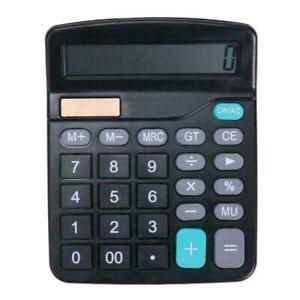 Solar-Battery-Desktop-Calculator-Grundlegendes-12-stelliges-Display-C1N4-G8Z1