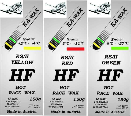 Skiwax Rennwax Wax High Fluor 450g  for all Snowtemp.