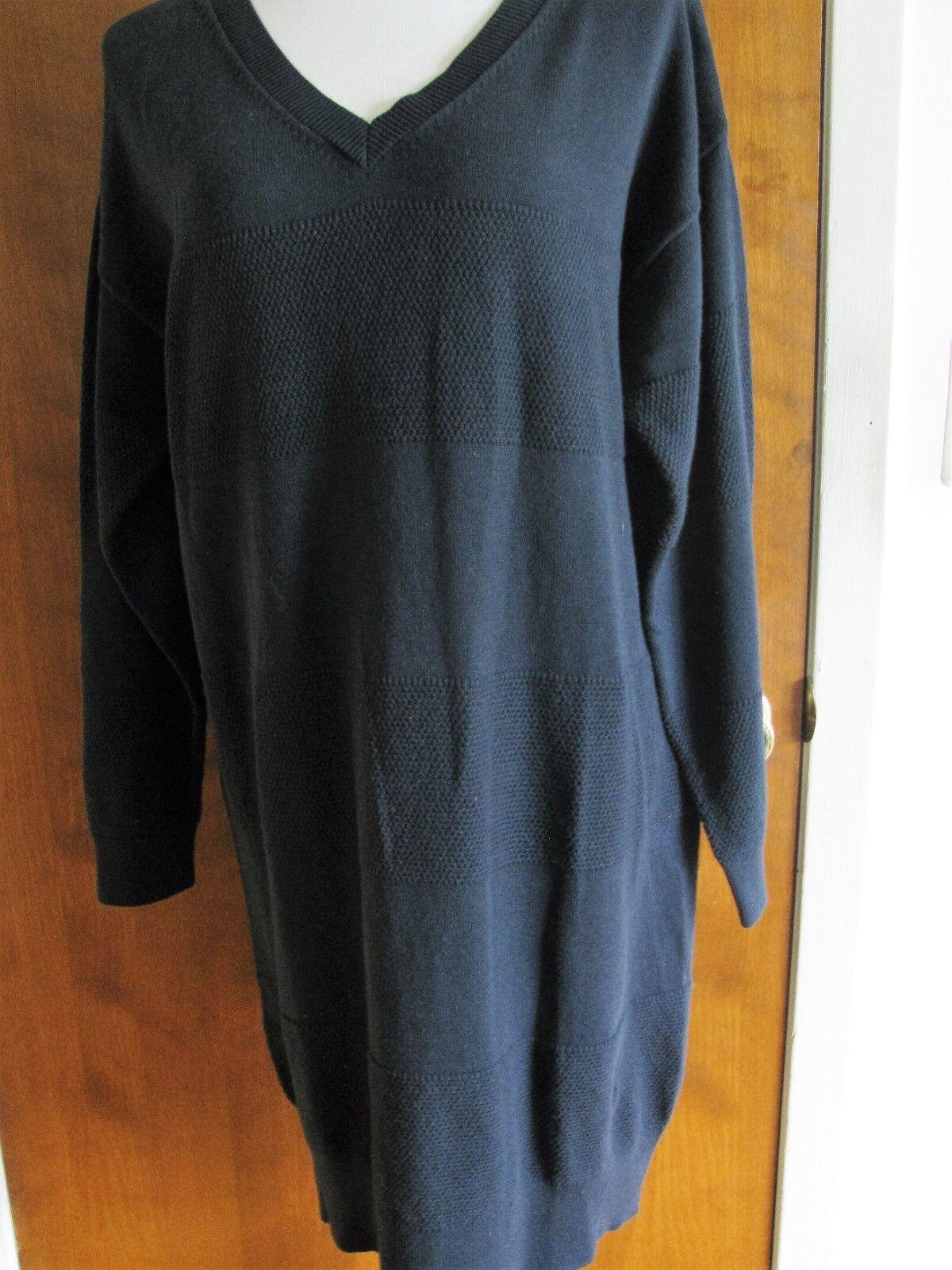 Gap damen dark navy Cotton Sweater Dress Größe Xlarge NWT