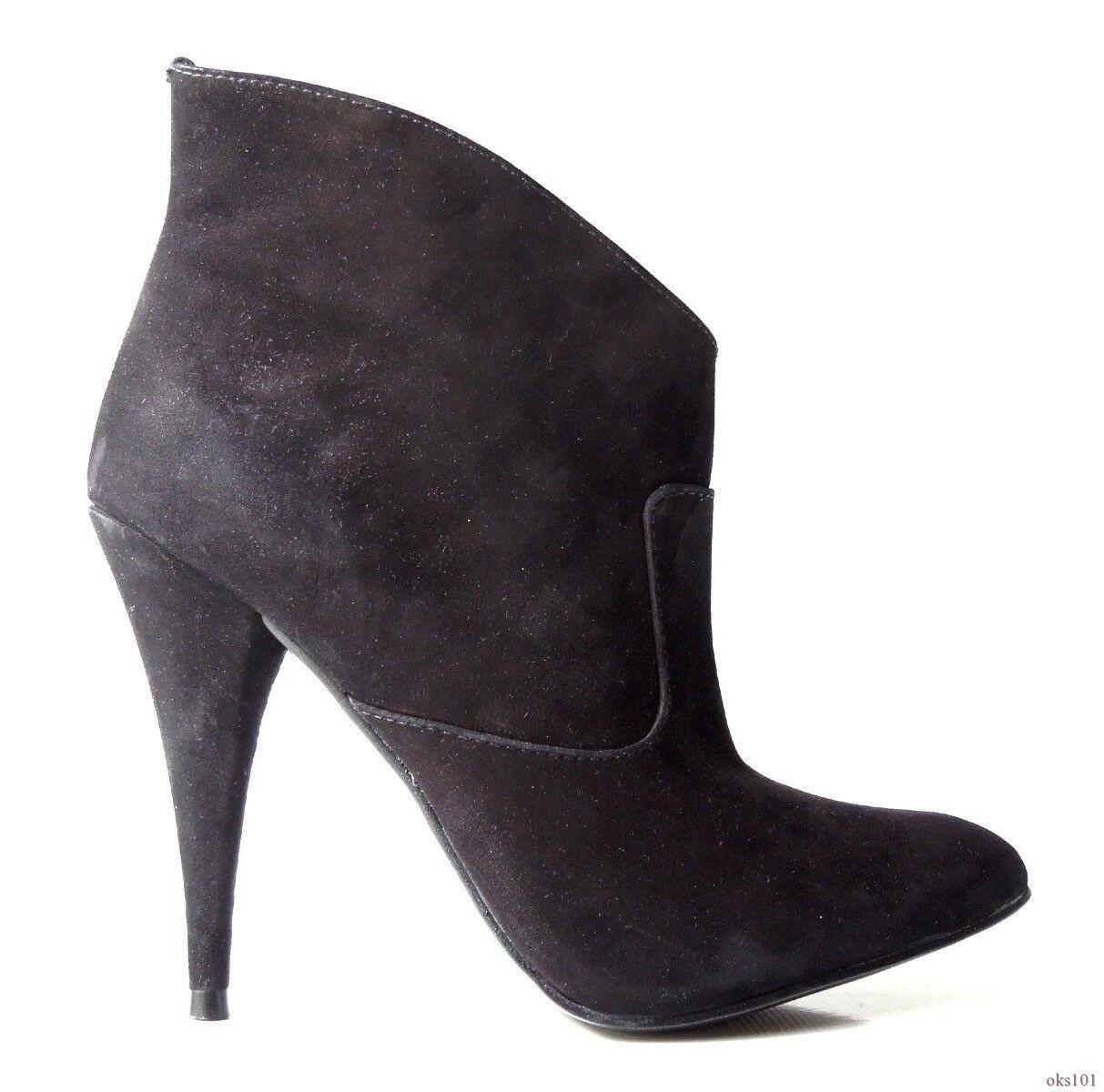 descuento de ventas en línea Nuevo Nuevo Nuevo Steven Steve Madden 'Kinx' Nobuck Negro botas al Tobillo Zapatos 6-Sexy  sorteos de estadio