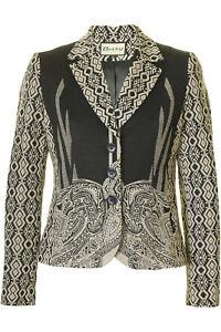 Jacket Pattern Black Beige Busy And Ladies qIX6ZT