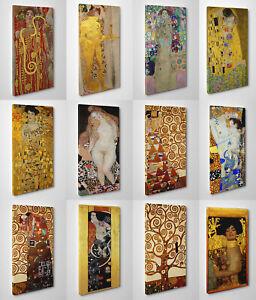 Quadro-Klimt-Stampa-su-Tela-Pronto-da-Appendere-Vernice-Effetto-Pennellate