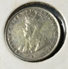 1919 Straits Settlements 5cents silver coin  very high grade