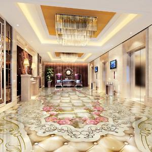 3D Art pink Pattern 53 Floor WallPaper Murals Wallpaper Mural Print AJ AU Lemon
