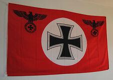 FLAGGE FAHNE 4507 DEUTSCHLAND ROT REICHSADLER EISERNES KREUZ LÄNDERFLAGGE