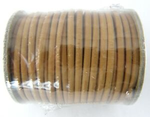 """Beige Realeather Sof-Suede Lace 1//8/"""" x25-yard Spool"""