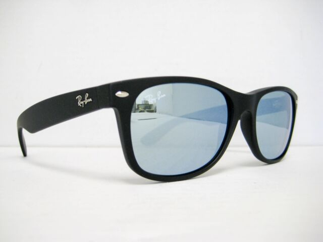 93a1b30d039 new Ray Ban New Wayfarer Sunglasses Black Silver Mirror 55mm RB2132 622 30