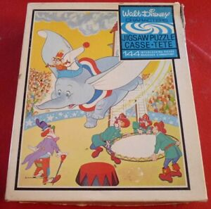 Board-Game-Jigsaw-Puzzle-Walt-Disney-039-s-Classic-Dumbo-Complete