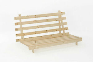 Wooden Futon Sofa Bed Frame - Small Double 4ft - Base Only ...