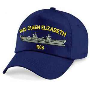 5e513e35321 Image is loading HMS-Queen-Elizabeth-Embroidered-Baseball-Caps-amp-Beanies