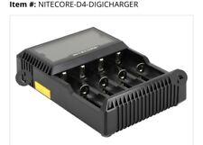 Nitecore D4 Digicharger Universal  Li-Mn Li-ion Ni-MH Ni-Cd Battery 3.7v OR 1.5v