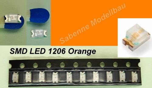 10 Pièces SMD DEL 1206 Orange c2891