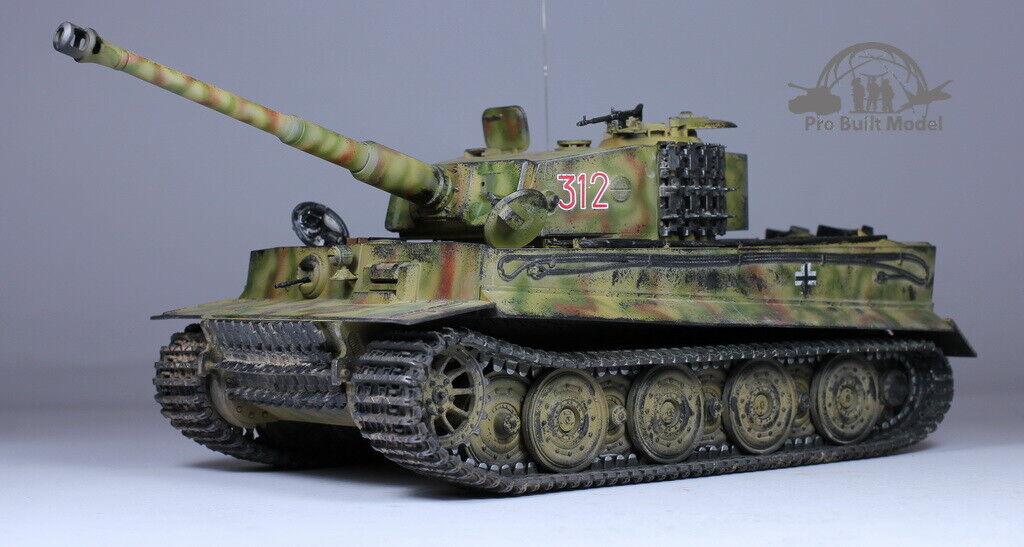 Tiger I Panzerkampf wagen VI sdkfz 181 Ausstellung E Late 1 35 Pro Built Modell