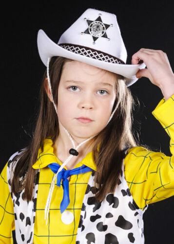 Childrens Size White Sheriff Cowboy Hat