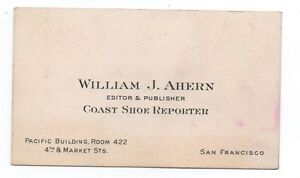 1920s business card the coast shoe reporter newspaper editor w image is loading 1920s business card the coast shoe reporter newspaper colourmoves Choice Image