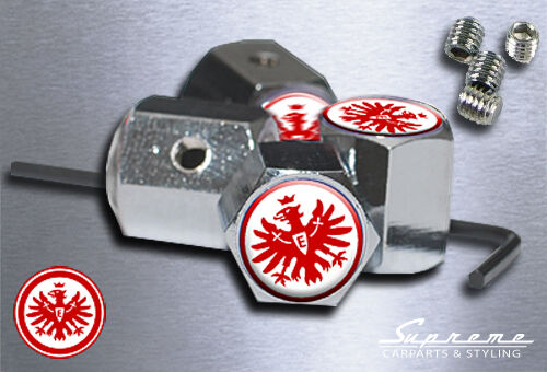 Eintracht frankfurt 4x cromo válvula tapas antirrobo fútbol mercadotecnia