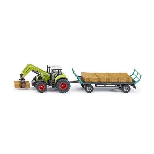 Siku 1946 Tractor Claas con Bola de Agarre y Remolque Escala 1:50 Neu °