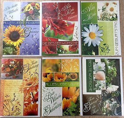 Grußkarten Geburt Geburtstag 51-1693EF Geburtstagskarten 1= 0,17 € Glückwunsch
