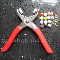 "One Press Snap Fastener Plier stud attaching 25 Set Open ring 3/8"" Sew tool GBPP"
