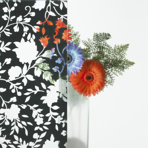 Decorative Patterned Window Film inc Frosted Glass Tint Sticky Back Plastic