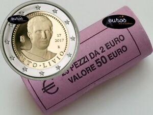 Rouleau-25-x-2-euros-commemoratives-ITALIE-2017-Tito-LIvio-Qualite-UNC-2-2