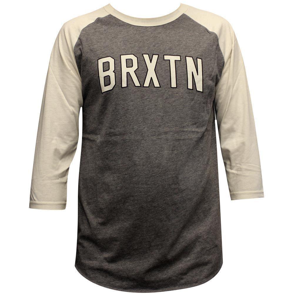 Brixton Hamilton 3 4 Sleeve T-Shirt grey Cream